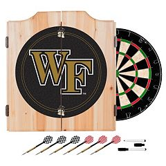 Wake Forest Demon Deacons Wood Dart Cabinet Set