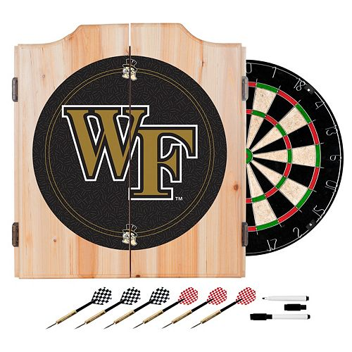 Wake Forest Demon Deacons Wood Dart Cabinet Set