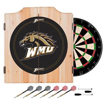 Western Michigan Broncos Wood Dart Cabinet Set