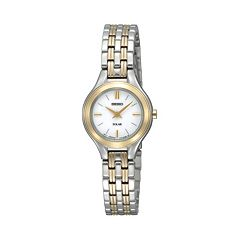 Seiko Women's Two Tone Stainless Steel Solar Watch - SUP210