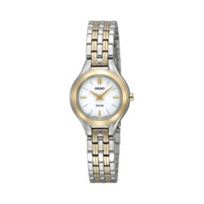 Seiko Women's Two Tone Stainless Steel Solar Watch - SUP210