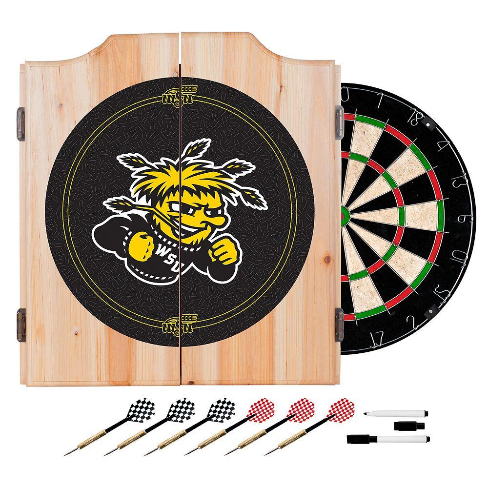 Wichita State Shockers Wood Dart Cabinet Set