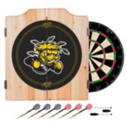 Wichita State Shockers Wood Dart Cabinet Set