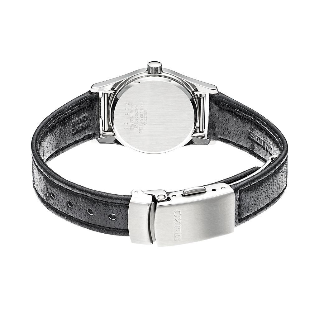 Seiko Women's Braille Leather Watch - SWL001