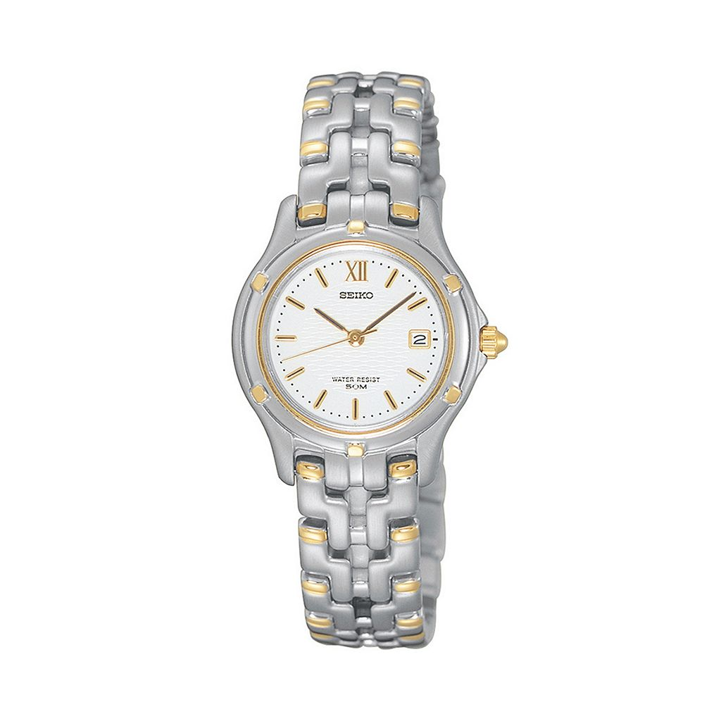 Seiko Women's Le Grand Sport Two Tone Stainless Steel Watch - SXE586