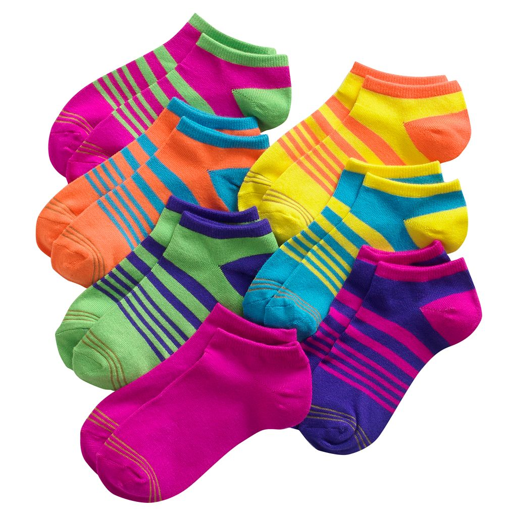 Girls 7-16 GOLDTOE 7-pk. Striped Liner Socks