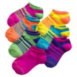 Girls 7-16 GOLDTOE 7-pk. Striped Liner Socks