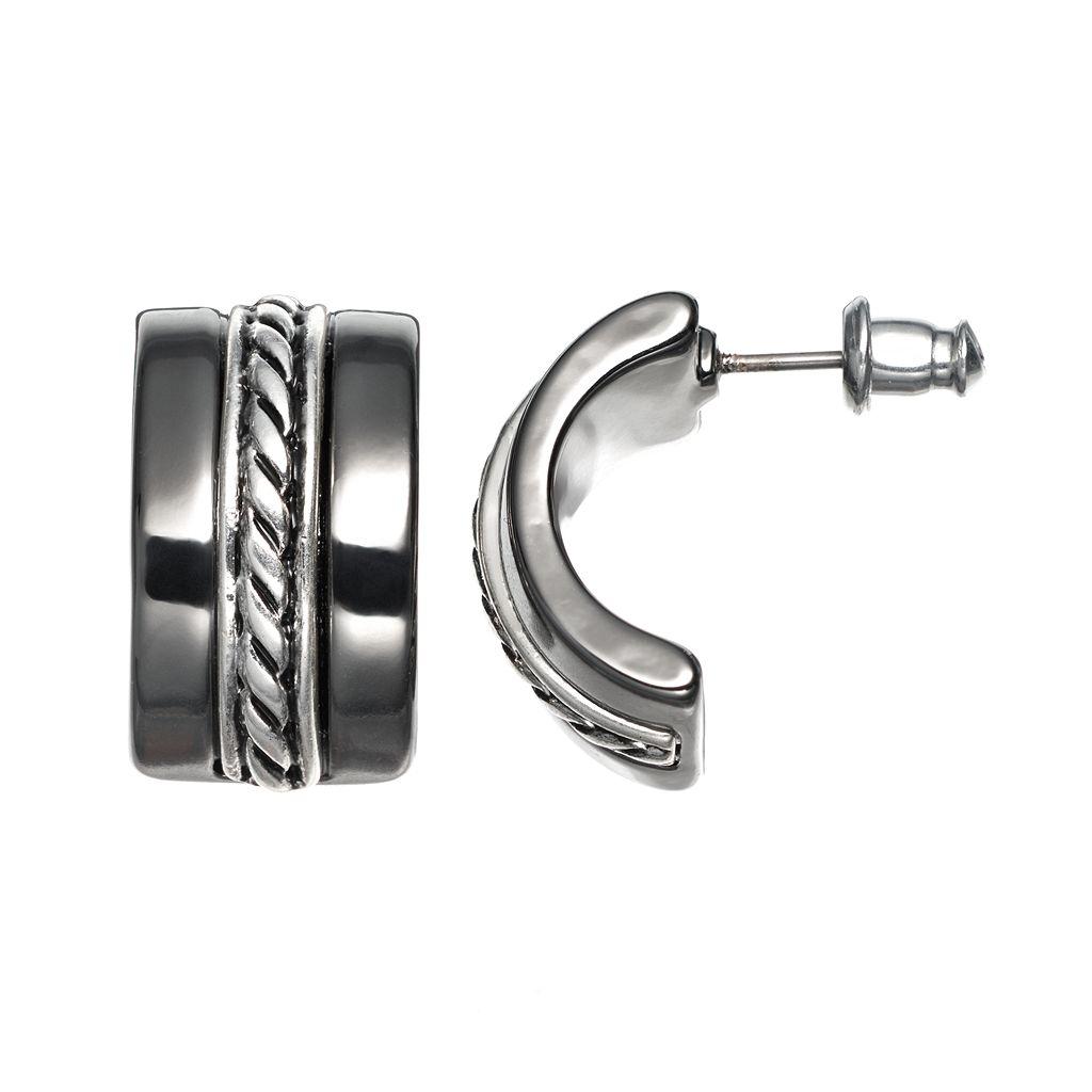 Dana Buchman Twist C-Hoop Earrings