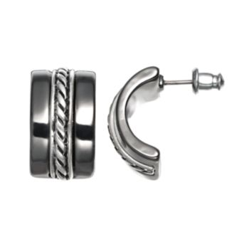 Dana Buchman Twist C-Hoop Earrings