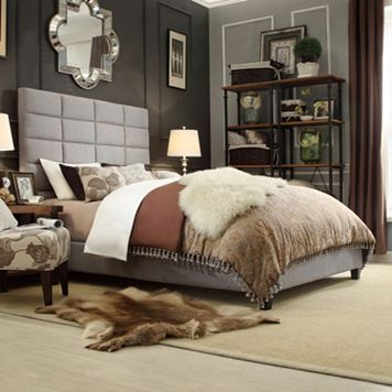 HomeVance Lorin Upholstered Bed - Full