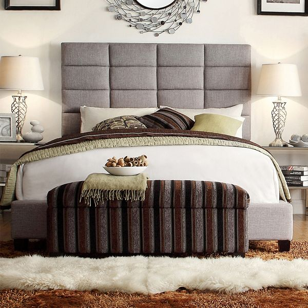 Homevance Lorin Upholstered Bed King