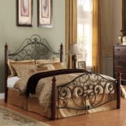 HomeVance Malia Scrollwork Poster Bed - Full