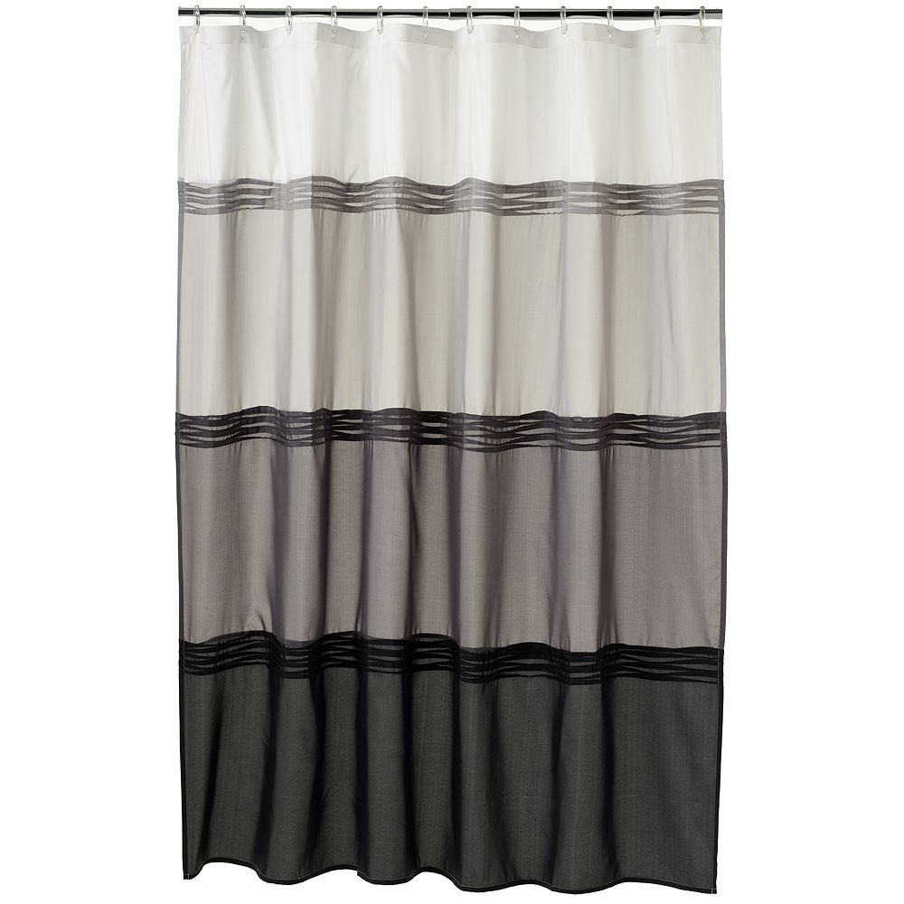 Classics® Black Pintuck Fabric Shower Curtain