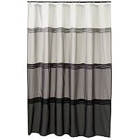 Home Classics® Black Pintuck Fabric Shower Curtain