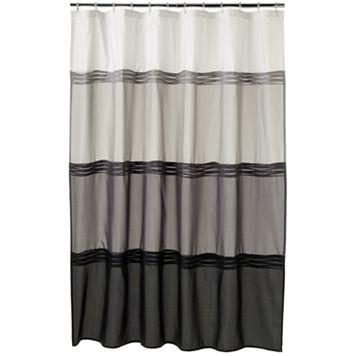 Home Classics® Black Pintuck Fabric Shower Curtain