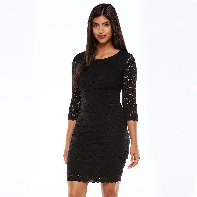 Ronni Nicole Tiered Lace Shift Dress - Women's