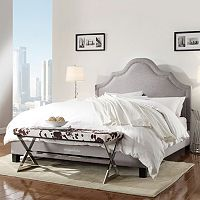 HomeVance Rebecca Nailhead Bed - Queen