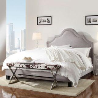 HomeVance Rebecca Nailhead Bed - Queen