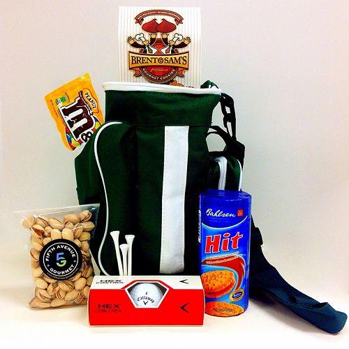 Fifth Avenue Gourmet Hit 'em Straight Golf Bag Cooler Gift Basket