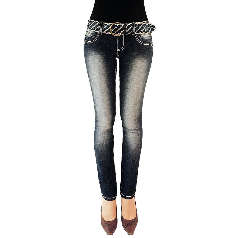 Angels Faded Skinny Jeans - Juniors