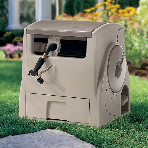 Suncast 100-ft. Capacity Powerwind Hose Reel Hideway - Outdoor