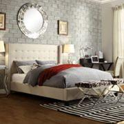 HomeVance Simone Wingback Bed