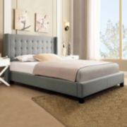 HomeVance Simone Wingback Bed