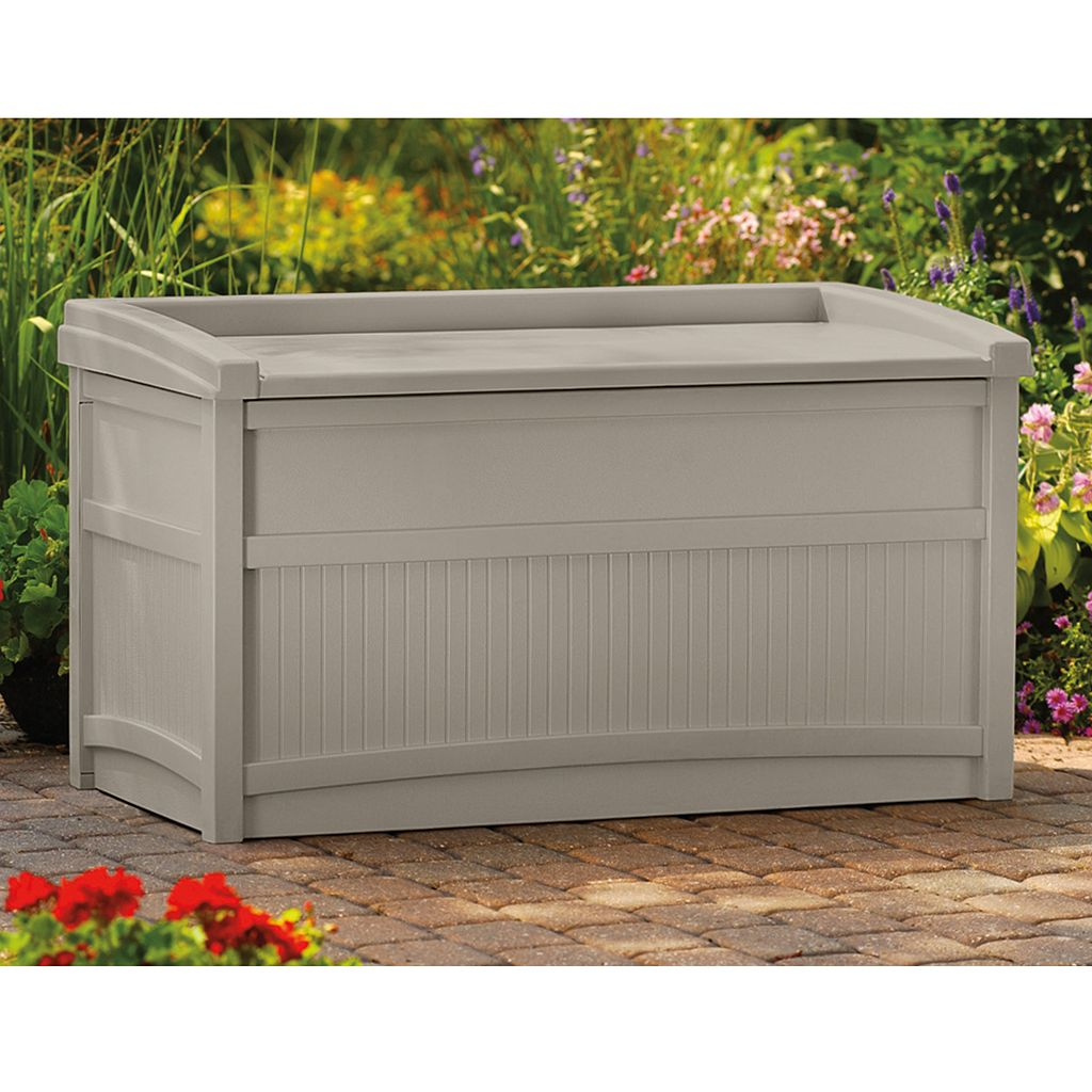 Suncast 50-Gallon Storage Box With Seat - Outdoor