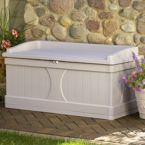 Suncast Flat Top 99-Gallon Storage Box - Outdoor