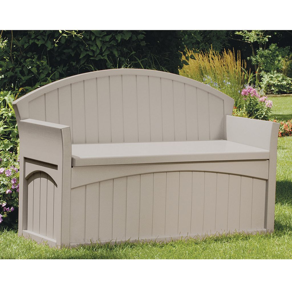 Suncast 50-Gallon Storage Patio Bench - Outdoor