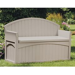 Suncast 50-Gallon Storage Patio Bench - Outdoor
