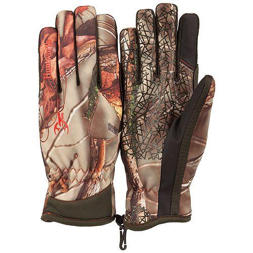Huntworth Stealth Series Oak Tree EVO Camouflage Fleece-Lined Shooting Gloves - Men