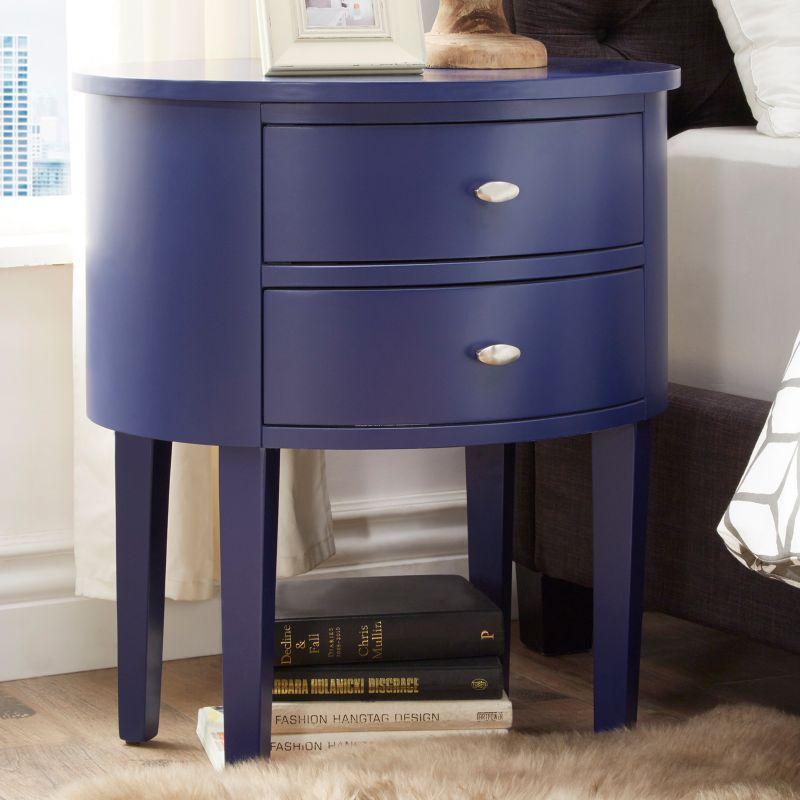 HomeVance Tenyson End Table, Blue