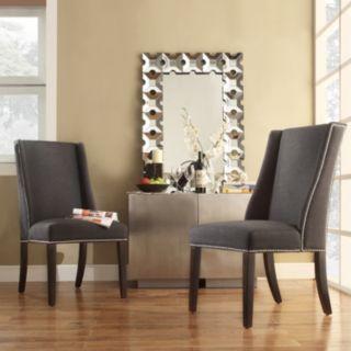 HomeVance Park Row 2-pc. Wingback Hostess Chair Set