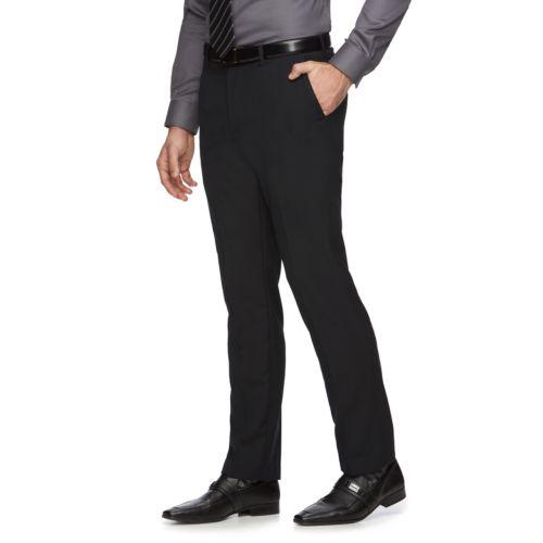 Men's Marc Anthony Slim-Fit Wool-Blend Flat-Front Dress Pants