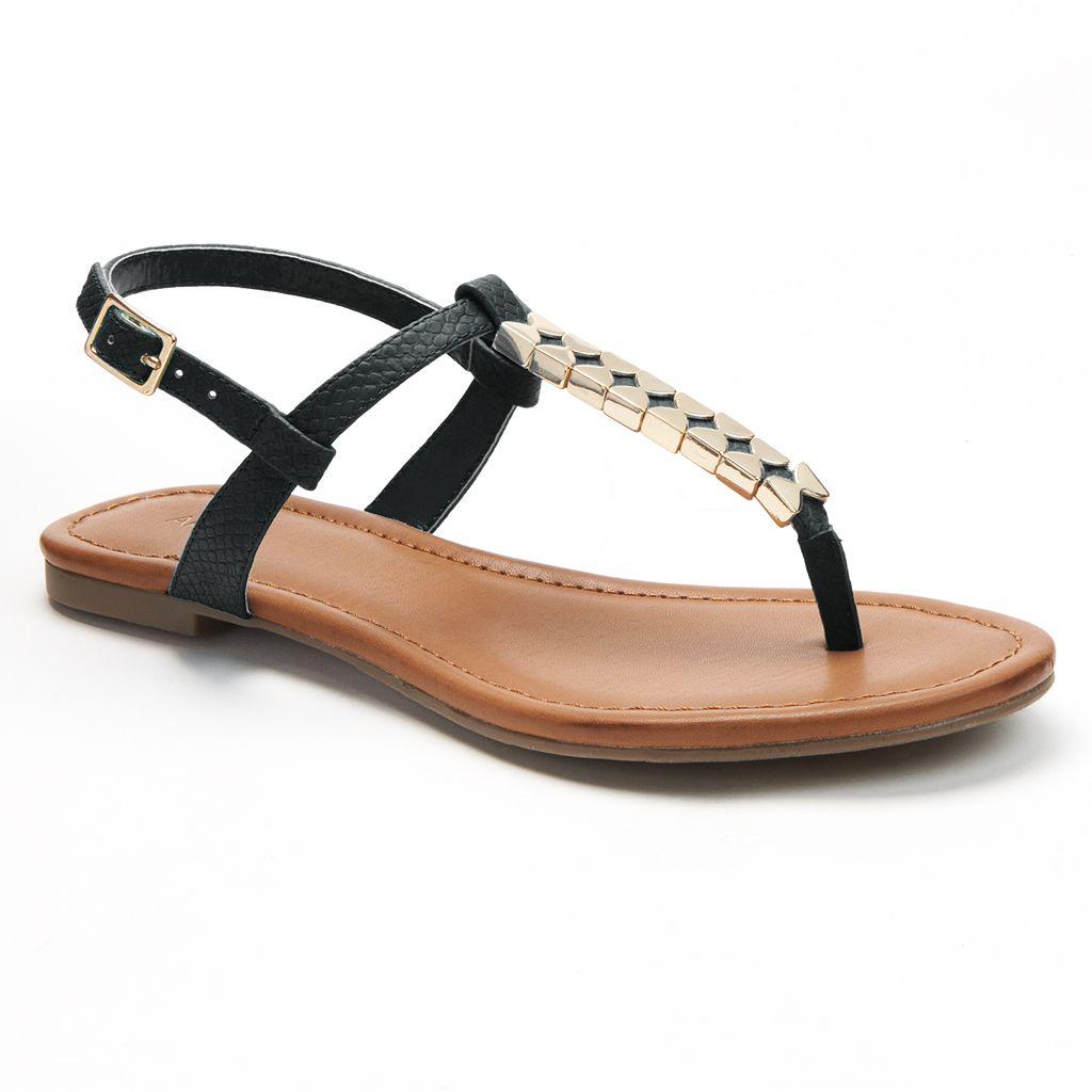 Black sandals juniors - Apt 9 Thong Sandals Juniors