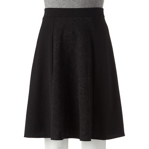 Joe B Embossed A-Line Skirt - Juniors