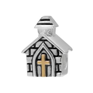 Individuality Beads 14k Gold Over Silver & Sterling Silver Church Bead
