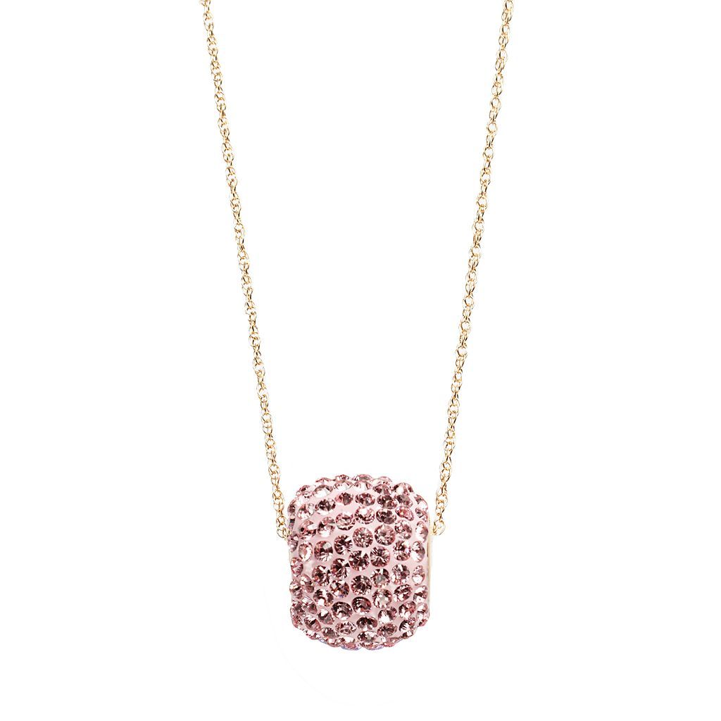 Gold 'N' Ice 10k Gold Crystal Spinner Ball Pendant - Made with Swarovski Crystals