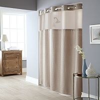 Windowpane 2-pc. Fabric Shower Curtain & Liner Set