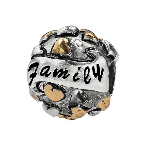 """Individuality Beads Sterling Silver & 14k Gold Over Silver """"Family"""" Bead"""