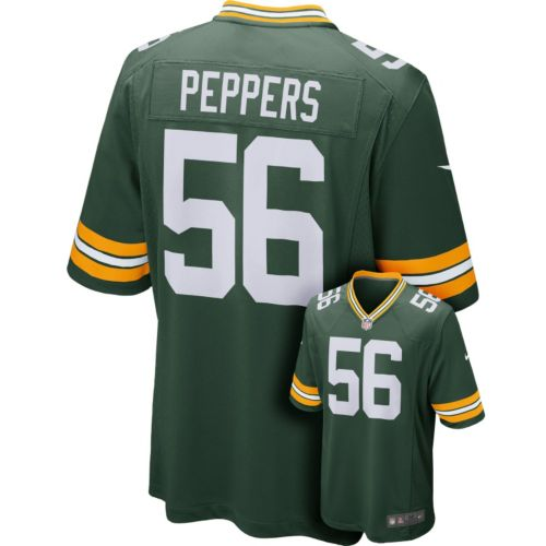 Nike Green Bay Packers Julius Peppers Game NFL Replica Jersey - Men
