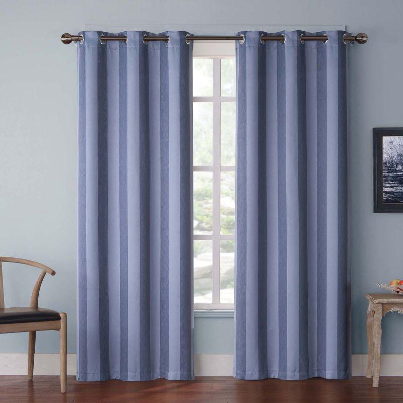 Victoria Classics Olsen Stripe Blackout Curtains - 38'' x 84''