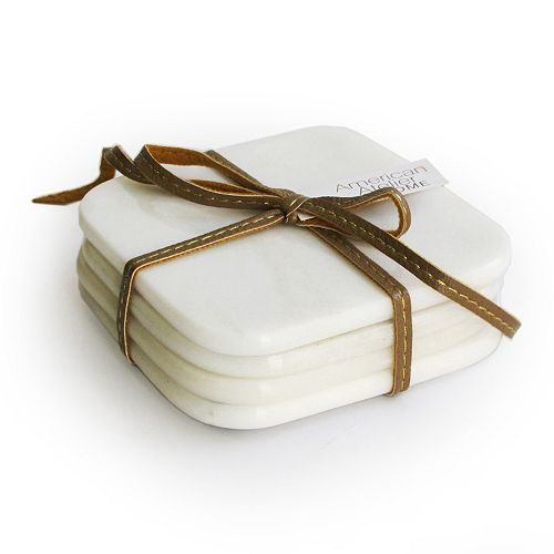 American Atelier 4-pc. Marble Coaster Set