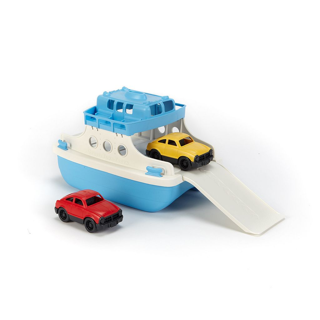 Green Toys Ferry Boat and Cars Set