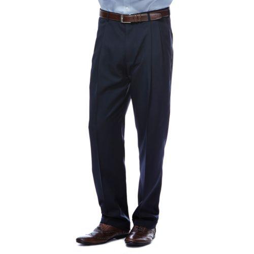 Haggar® Classic-Fit Herringbone Pleated Expandable Waist Dress Pants - Men