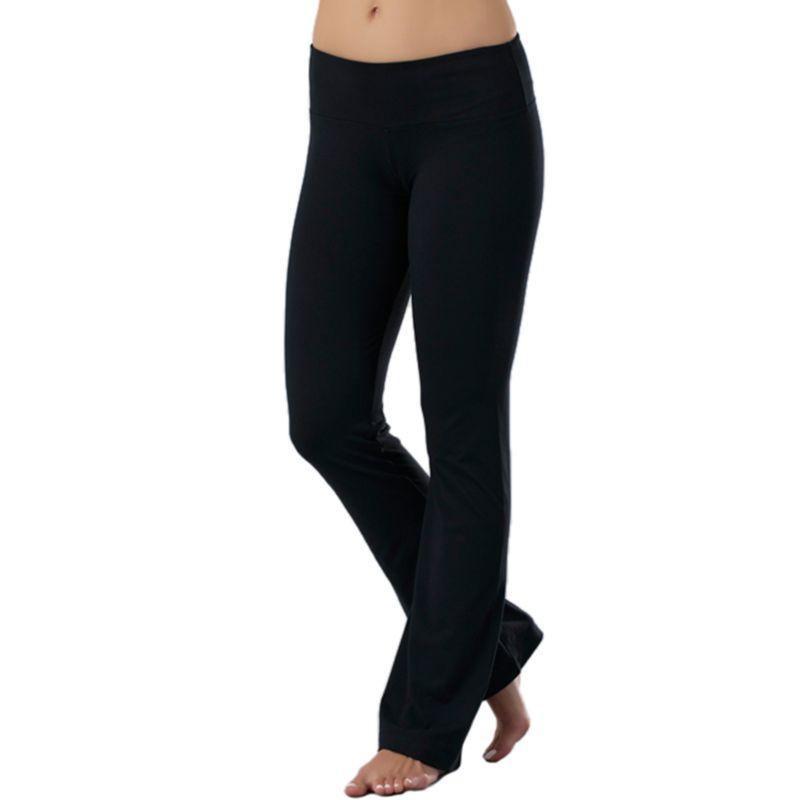 Unique Women Black Yoga Pants Leggings Athletic Pants Full Length NWT SZ