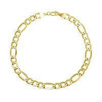 Everlasting Gold 14k Gold Figaro Chain Bracelet - 8.5-in.