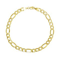 Everlasting Gold 14k Gold Figaro Chain Bracelet - 8.5-in.