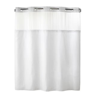 Herringbone 2-pc. Fabric Shower Curtain & Liner Set